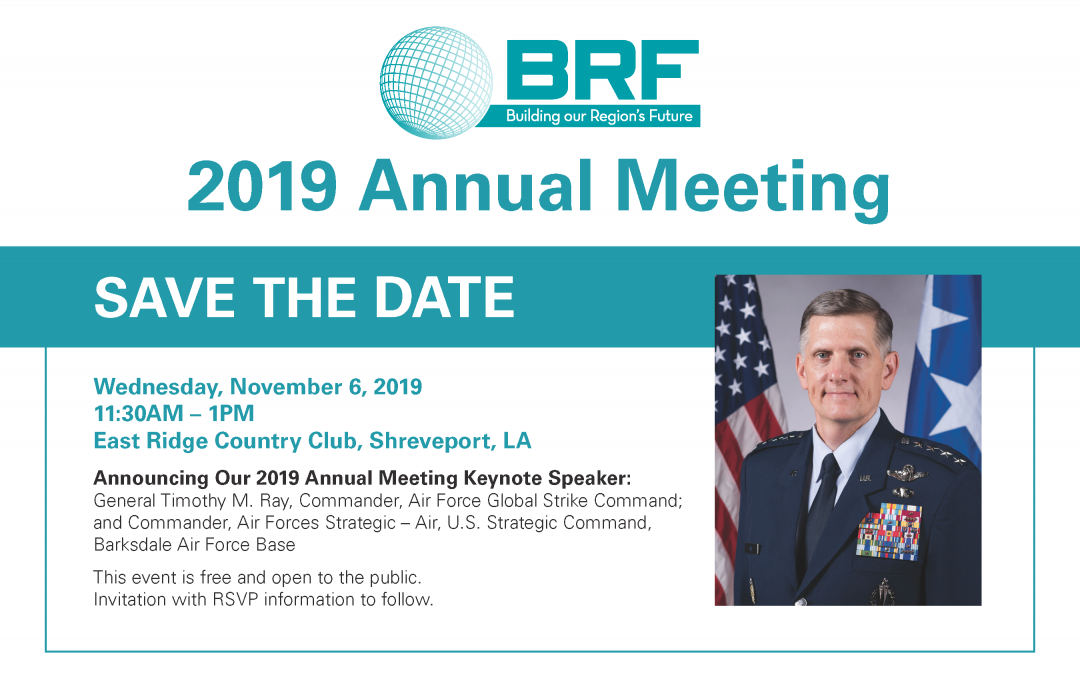 General Timothy M. Ray to speak at BRF Annual Meeting